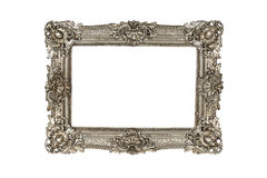 Old silver picture frame Royalty Free Stock Images