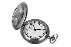 Old silver pocket watch Stock Image