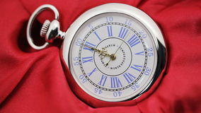Old silver pocket watch. stock video footage