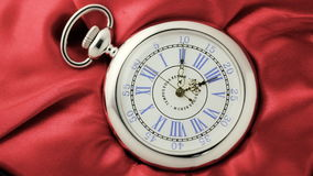 Old silver pocket watch. stock footage