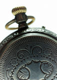 Old silver pocket watch closeup. Royalty Free Stock Photography
