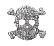 Old silver skull Royalty Free Stock Photography
