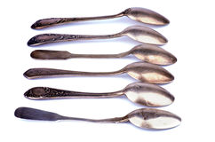 Old Silver Spoons Stock Photography