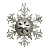 Old silver star shaped christmas ornament Stock Photo