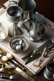Old silver ware Royalty Free Stock Photo