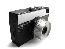Old simple camera isolated Stock Image