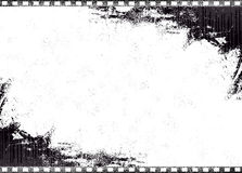 Old Single Film. Single old film for easy use as background or populate it with images Stock Image
