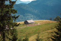 Old single house in mountains Royalty Free Stock Photography