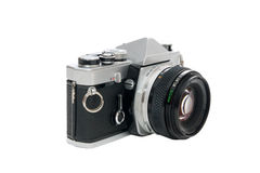 Old single lens reflex camera Stock Photography