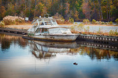 Old Sinking Boat Stock Images