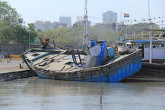 Old sinking Fishing Boat Royalty Free Stock Photography