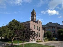 The Old Sioux Falls Courthouse and Minnehaha Extension Building stock images