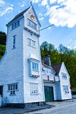 The old Skansen Fire Station in Bergen, Norway Royalty Free Stock Images