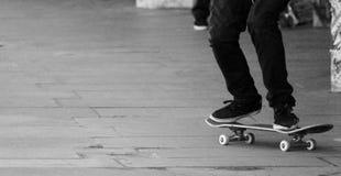 Old Skateboard concrete board Stock Images