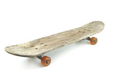 Old skateboard isolated on white background Stock Photography