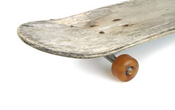 Old skateboard on white background Stock Images
