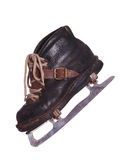 Old skates made of leather Royalty Free Stock Photos