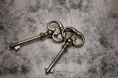 Old Skeleton Keys. Two skeleton keys with a vintage photo effect Stock Photography
