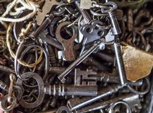 Old skeleton keys stock image