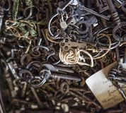 Old skeleton keys royalty free stock photo