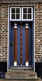 Old skewed door in Ribe, Denmark Royalty Free Stock Photography