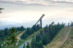 The old ski jump. Stock Image