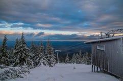 Old Ski lift in Karkonosze, Poland Royalty Free Stock Photo