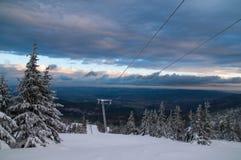 Old Ski lift in Karkonosze, Poland Royalty Free Stock Image