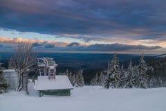Old Ski lift in Karkonosze, Poland Stock Photos