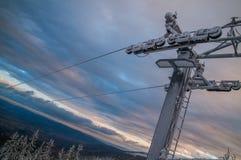 Old Ski lift Royalty Free Stock Photos