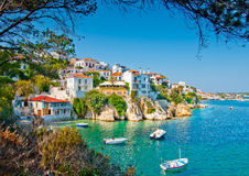 The old Skiathos.. The Old part in town of island Skiathos in Greece royalty free stock photo
