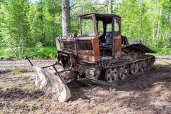 Old skidder at the forest Royalty Free Stock Photo