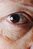 Old skin, eye, closeup Stock Photo