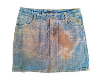 Old skirt denim texture Royalty Free Stock Photos