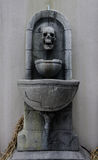 Old skull fountain Royalty Free Stock Photography