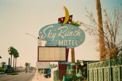 Free Old Sky Ranch Las Vegas Motel Sign Royalty Free Stock Photography - 197606547