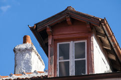 Old skylight and chimney Stock Photo