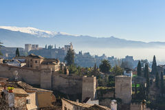 Old Skyline of Granada Spain Stock Photos