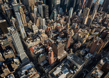 Old skyscrapers in New York City Stock Photos