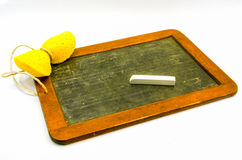 Old slate with chalk Stock Image
