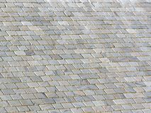 Old Slate Roof Background. Slate roof image with deep shadows between the tiles Stock Photography