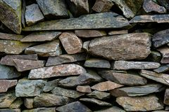 Old Slate Stone Wall Royalty Free Stock Images