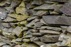 Old Slate Stone Wall stock photos