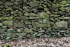 Old Slate Stone Wall royalty free stock image