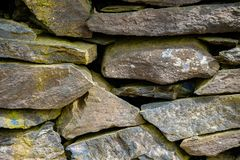 Old Slate Stone Wall stock images