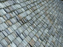 Old slate tiled roof Royalty Free Stock Photography