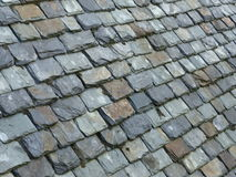 Old slate tiled roof Stock Image