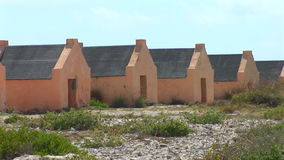 Old slave huts on Bonaire, The Netherlands stock video