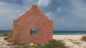 Old slave huts on Bonaire, The Netherlands stock video footage