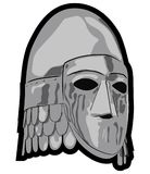 Old slavic helmet vector illustration